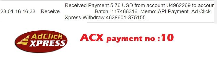 "This is my 10th payment prrof ""Here is my Withdrawal Proof from AdClickXpress ""I am getting paid daily at ACX and here is proof of my latest withdrawal. This is not a scam and I love making money online with Ad Click Xpress."" If u want to Join then click here and join :  http://www.adclickxpress.is/?r=cbfs9p9ege43w&p=mx Guidence Contact : ... See More"