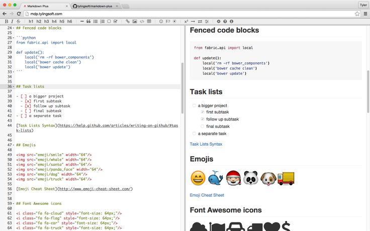 Markdown Plus is a markdown editor which supports GFM, emojis, LaTex math, UML diagrams and Vim mode.