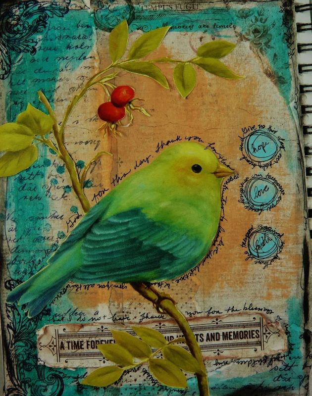 Another dose of Art Journaling – using Vintage Autumn Basics | Official blog of MajaDesign
