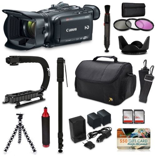 Canon Xa30 Hd Professional Video Camcorder Action Kit With Xgrip And Handgrip Handles Bag