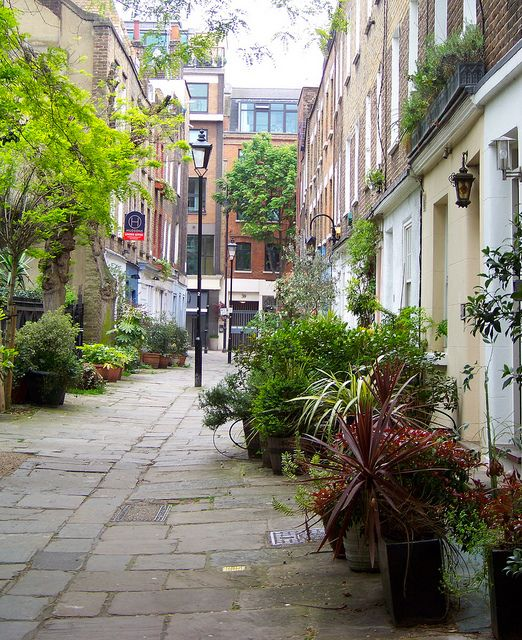 Colville Place Mews, Fitzrovia London. Near our flat on Conway mews