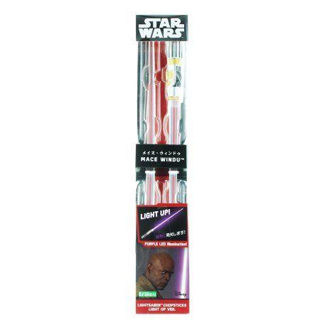 Star Wars Light Up Mace Windu Lightsaber Chopsticks
