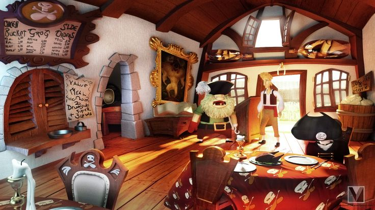 """Here is another 3d scene redoing a scene from the """"Monkey Island""""-Franchise by Lucas Arts. Take a look at the original game screenshot (opens in a new tab). Made with Blender. Rendere..."""