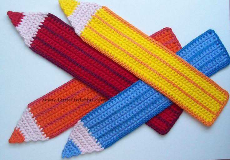 CROCHET pencil bookmark crochet pattern