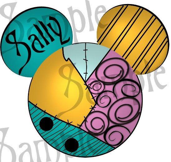 Sally Nightmare before Christmas inspired Mickey Head DIGITAL printable file DIY on Etsy, $3.00