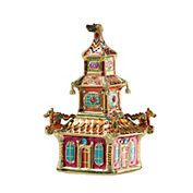 Jay Strongwater Pagoda Christmas Ornament