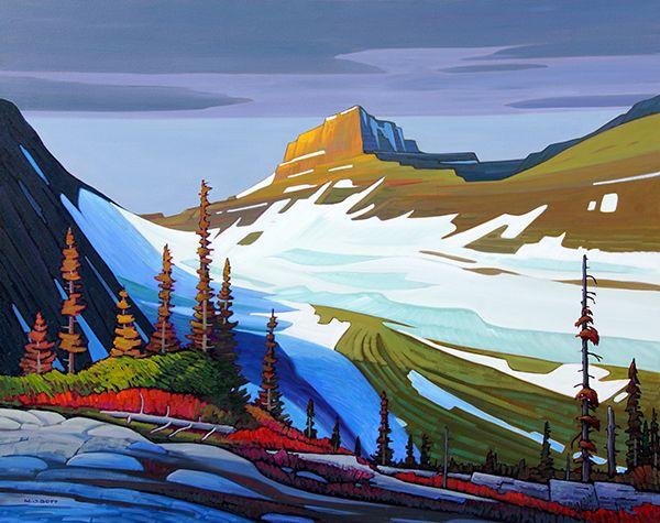 Hot Art-Madrona Gallery-Nicholas Bott, Mount Williams-Kananaskis-48x60 Oil on canvas