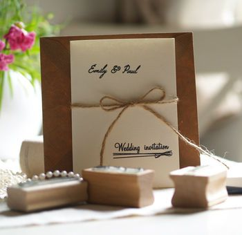 Diy Wedding Invitations Personalised Rubber Stamps Set