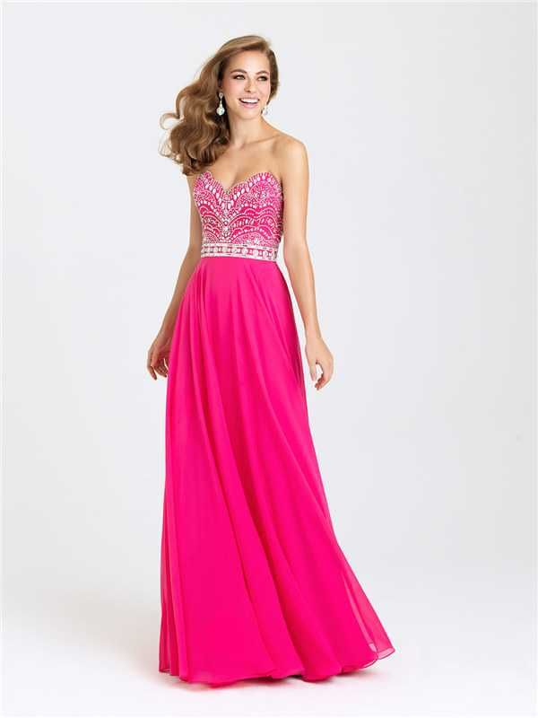 Long Dazzling Beaded Prom Formal Prom Dresses Madison James 16-394 Discount