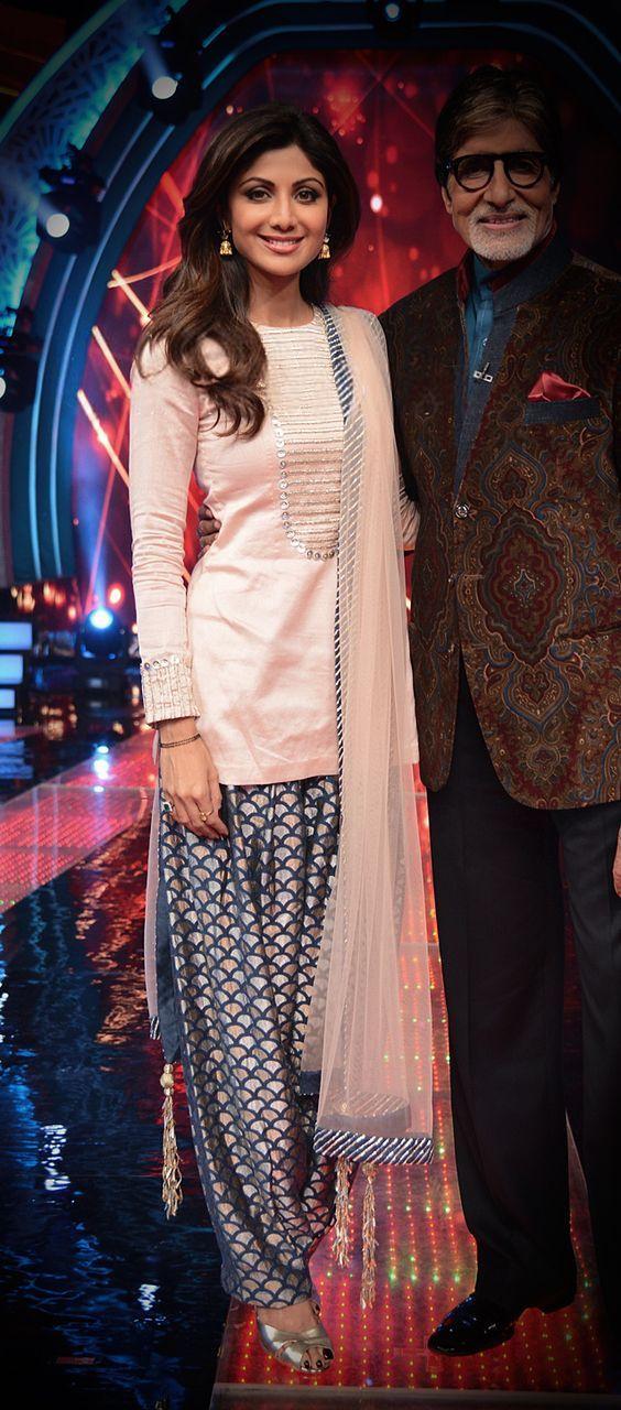 Shilpa Shetty wearing a Payal Singhal patiala suit: