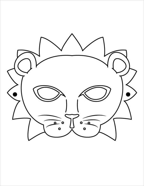 Animal Templates Free Premium Templates Animal Mask Templates Lion Coloring Pages Animal Templates