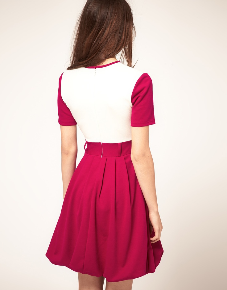 contrast dress by oh my love
