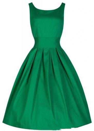 $22.47 Green 50s 60s Retro Rockabilly Swing Party Dress