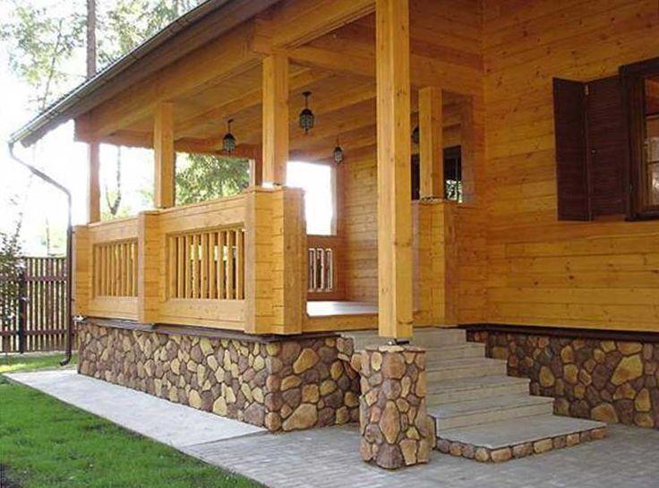 Дизайн веранды в деревянном доме