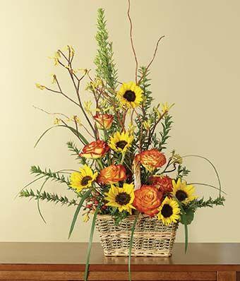 Yellow & Orange Sympathy Basket