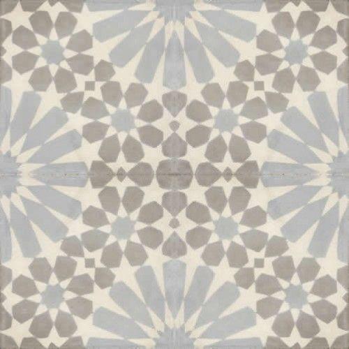 Moroccan Encaustic Cement Pattern Grey Tile Gr12 163 2 50
