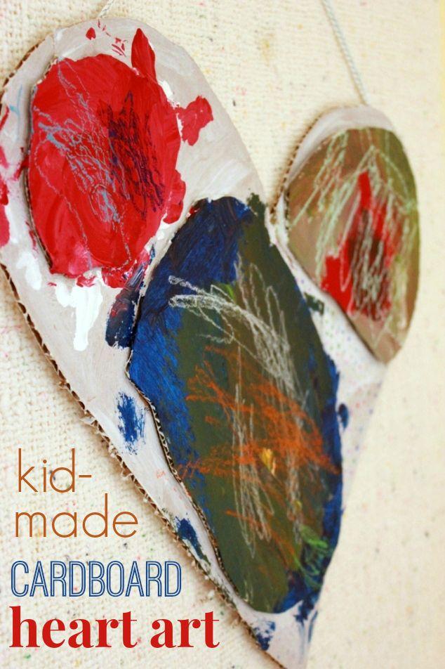 Cardboard Art Projects for Kids —Modern Art from Corrugated Cardboard Scraps!