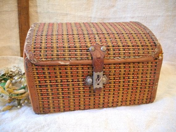 Antique lunch box, XIX, victorian era, French collection