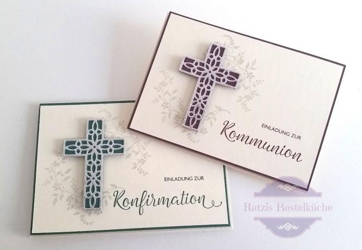 Einladung zur Konfirmaton und Kommunion – Ratzis Bastelküche – Stampin´Up in Berlin, Hoffe und glaube, Kreuz der Hoffnung, hold on to hope, Segensfeste