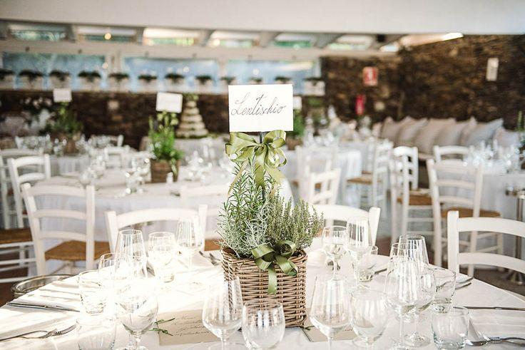 centrotavola matrimonio con erbe aromatiche