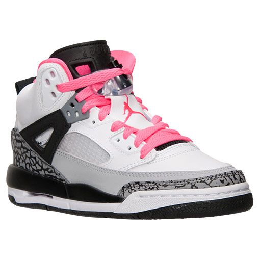 Girls' Grade School Jordan Spizike Basketball Shoes | Finish Line | White/Hyper Pink/Black/Cool Grey