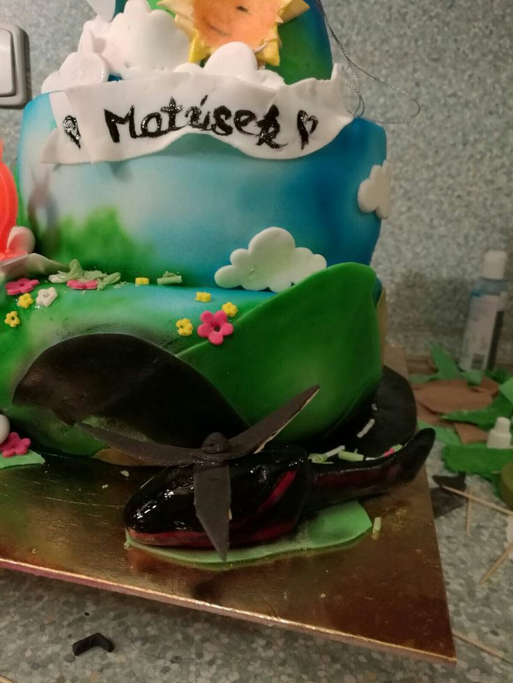 Detail 3_plane&helicopter cake