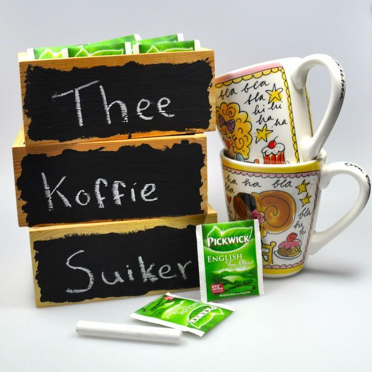 Met schoolbordverf op jouw theedoos , simpele DIY - Centsation.nl
