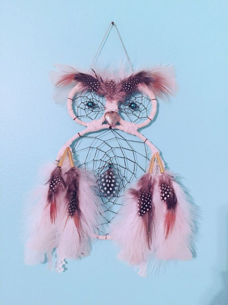 boho hippie vintage style snowy barn owl dreamcatcher authentically hand crafted by ojibwa artist with feathers, lace, and teal glass pearls by EarthDiverCreations on Etsy https://www.etsy.com/ca/listing/496814123/boho-hippie-vintage-style-snowy-barn-owl