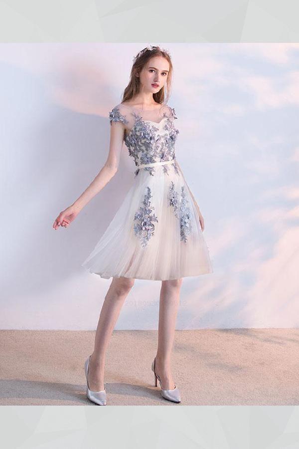 2a5efd650 Prom Dresses 2019, Prom Dress Short, Homecoming Dresses Lace  #PromDressShort #HomecomingDressesLace #PromDresses2019