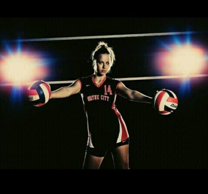 Volleyball senior photo!