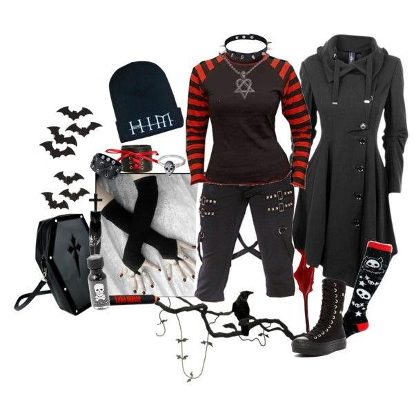 """""""Endless dark"""" by octoburfrost on Polyvore #goth #gothic #gothstyle…"""