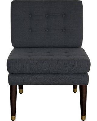 New Year, New Sales on Classic Tufted Slipper Chair - Navy (Blue) - Nate Berkus