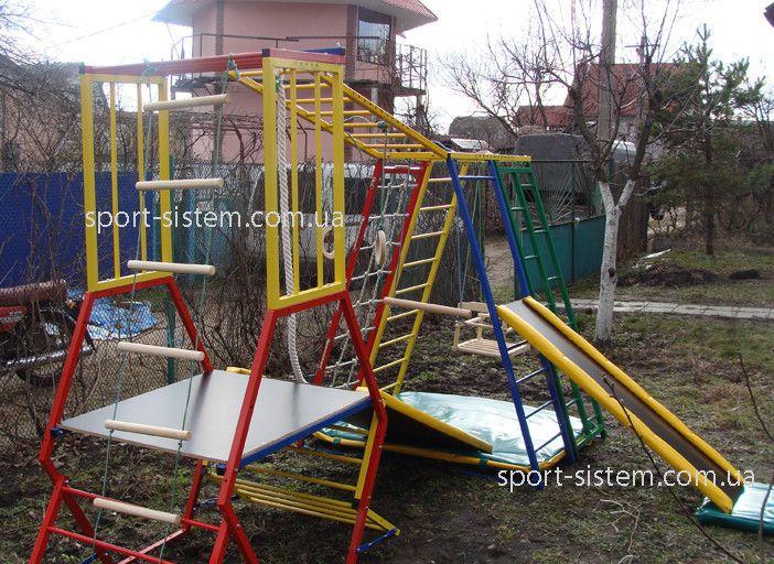 Детский игровой комплекс для игр на улице Kids Wood Playground Play Set