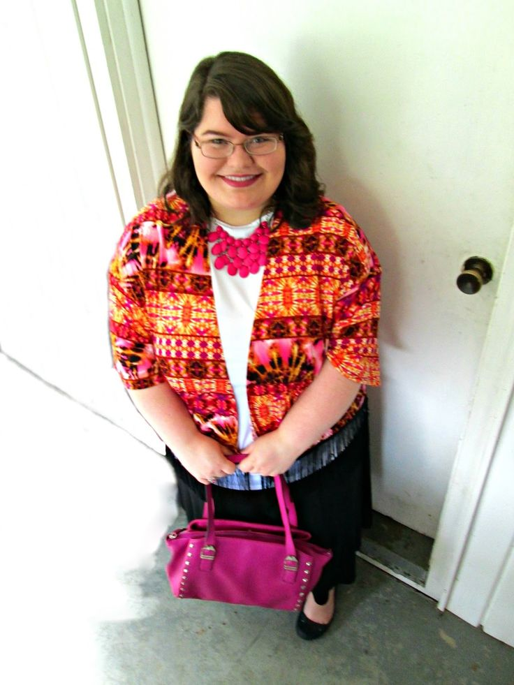 Unique Geek: Plus Size OOTD: It's To Dye For #plussizefashion #plussizeoutfit #plussize #ootd #plussizeootd #kimono #tiedye #churchoutfit
