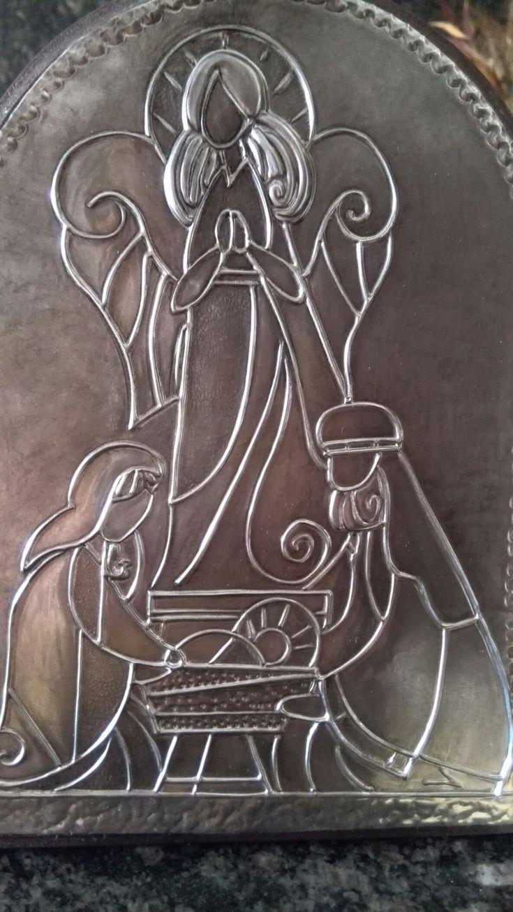Nacimiento repujado en aluminio ....! Marisol Larecca