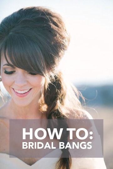 Love your bangs? Accentuate them on your big day with this bridal bangs inspiration!
