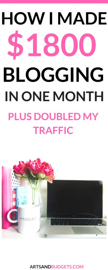Want to find out how to make money blogging when you are just beginning? Check out my latest post to find out how I made $1800 in my first Income + Traffic Report. - Income Report| Blogging Tips| How to make money blogging| How to start a blog|