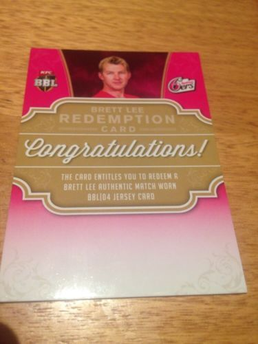 Cricket Cards 25579: Tap N Play Cricket 2015 16 Brett Lee Redemption Card #Blr-01 -> BUY IT NOW ONLY: $235 on eBay!