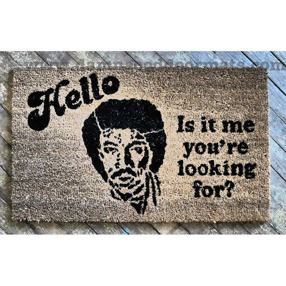 Sale original hello is it me your looking for novelty indoor outdoor doormat buzzfeed - Novelty welcome mats ...