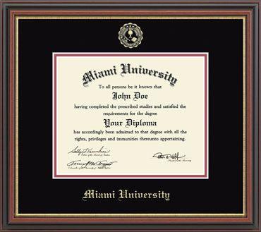 10539170 Embossed Pre-1986 Diploma Frame (regency)   Miami University Bookstore