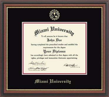 10480885 Embossed Diploma Frame (regency Moulding) | Miami University Bookstore