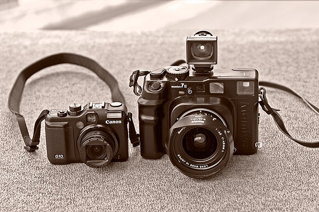 """""""Canon G10 & Mamiya 7ii 6x7 Rangefinder"""" By leneslana"""
