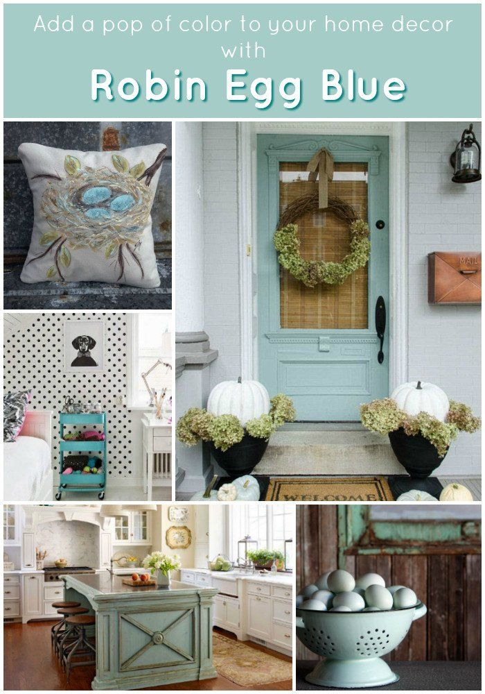 decorating with robin egg blue - add a fun pop of color to your home decor by adding a few pieces in your favorite color.