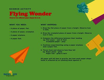 Flying Wonders, science activity from BrightNRite from BrightNRite on TeachersNotebook.com (1 page)  - This is a fun experiment to find out how high and far different shape airplanes can fly