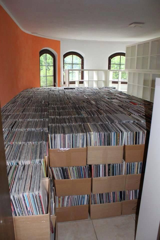 - One Hell of A Record Collection - #Music #Records #Vinyl #Collection http://www.pinterest.com/TheHitman14/for-the-record/