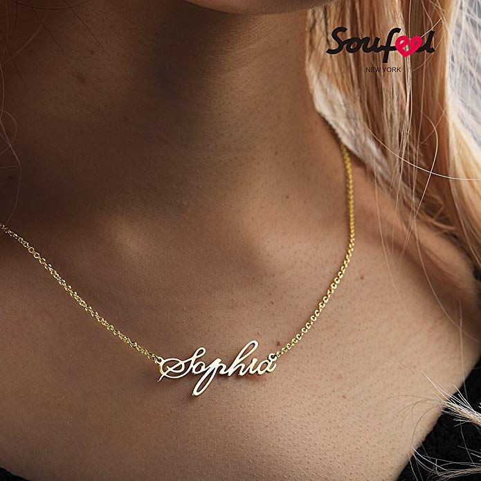 ed0eba1e928f5 SOUFEEL Customized Necklace Personalized Necklace 14K Gold Plated ...