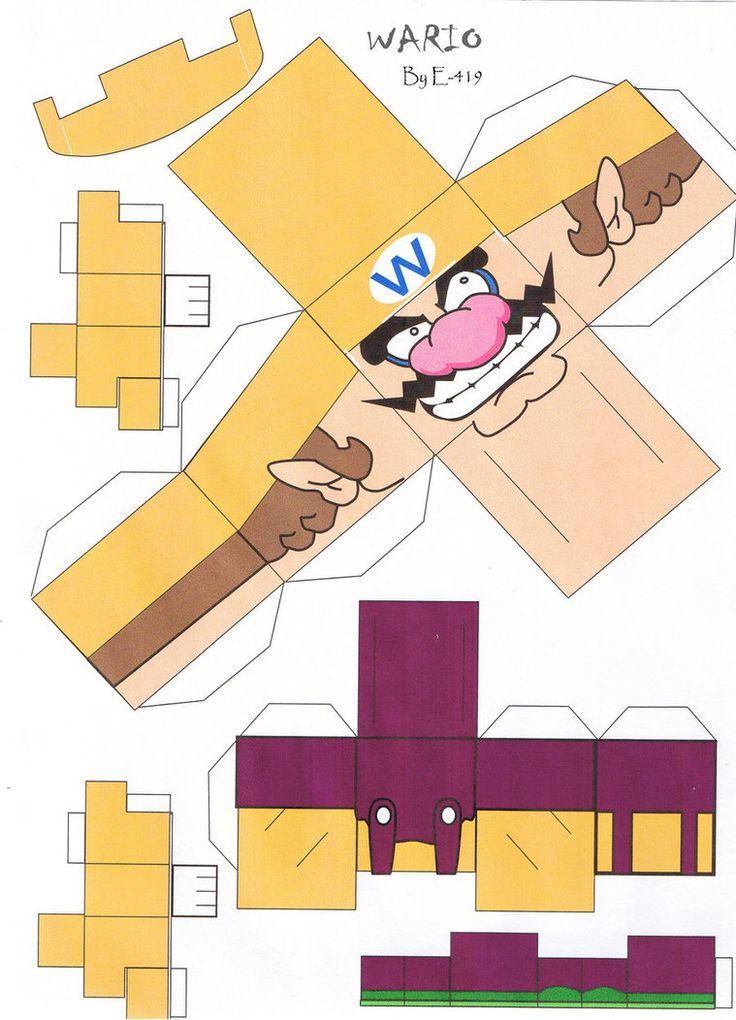 Wario Mario Bros - cubeecraft / papercraft by MarcoKobashigawa on DeviantArt