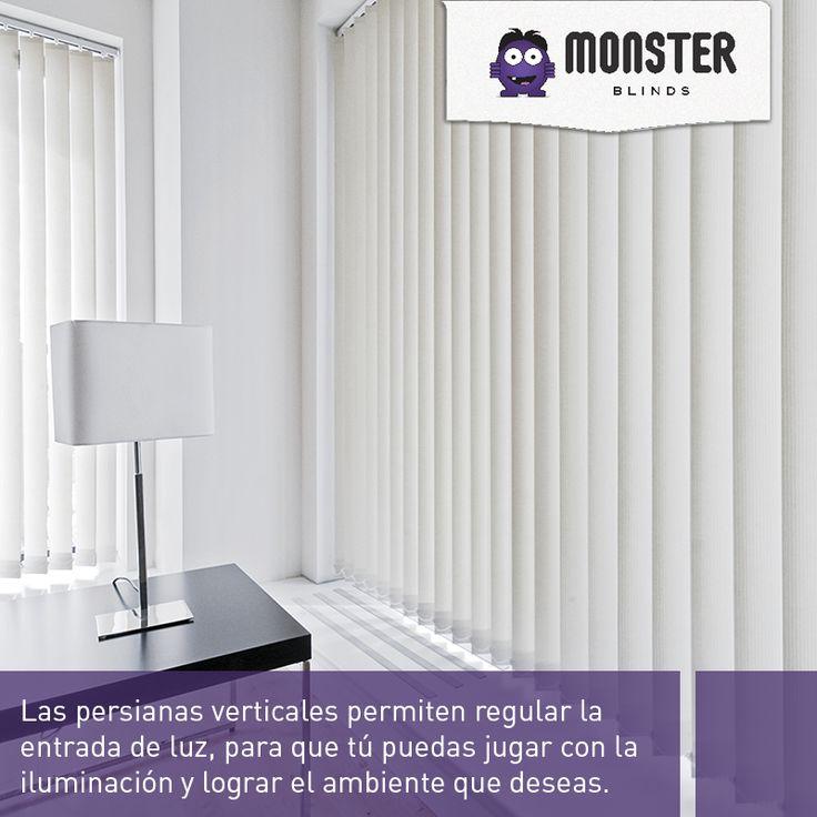 Persianas verticales que te permiten regular la entrada de luz. #monsterblinds #persianas #verticales #remodela  #blinds #design #interiordesign #verticalsystem