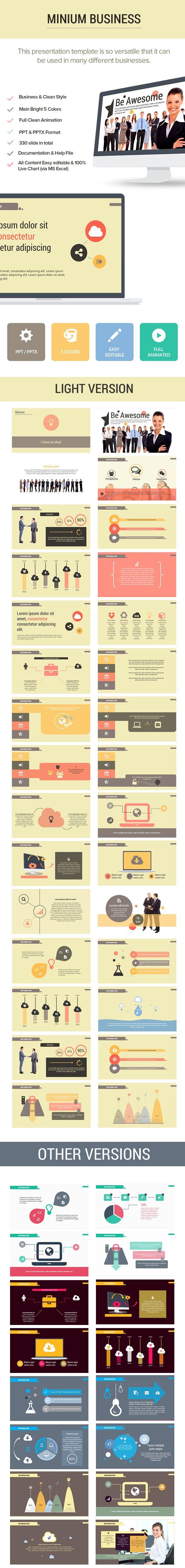 25 best work powerpoint blog templates images on pinterest minium business business powerpoint templatesppt templatepresentation toneelgroepblik Choice Image