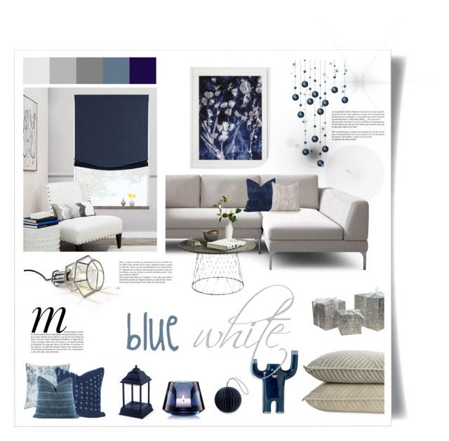 blue and white by levai-magdolna on Polyvore featuring interior, interiors, interior design, home, home decor, interior decorating, Design House Stockholm, Design Within Reach, Northlight Homestore and Baccarat